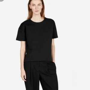 Everlane Short Sleeve Black Sweatshirt Large